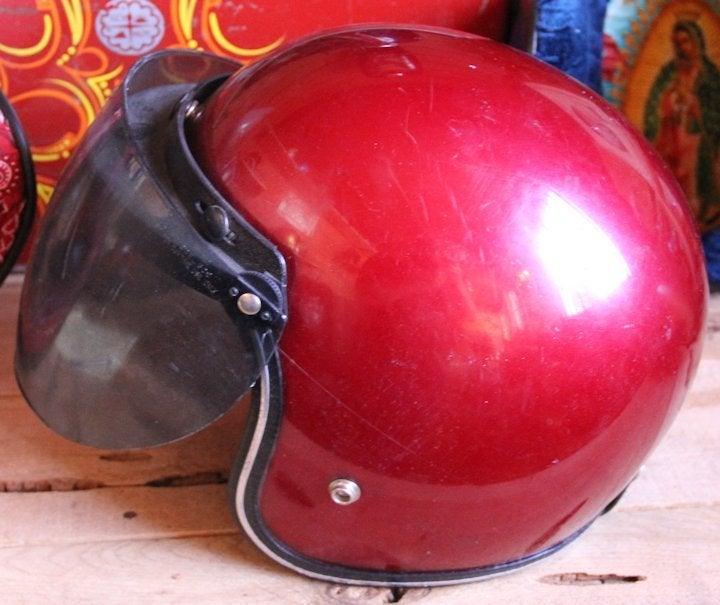 Image of 3/4 Helmet Red w shield
