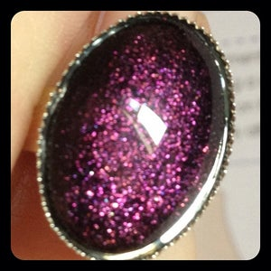 Image of Nailed it 18x13mm Silver Band Ring