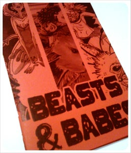 Image of Beasts and Babes mini art book