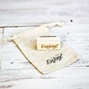 Image of Mini 'Enjoy' Wooden Stamp