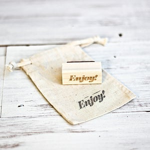 Image of Mini 'Enjoy' Wooden Stamp