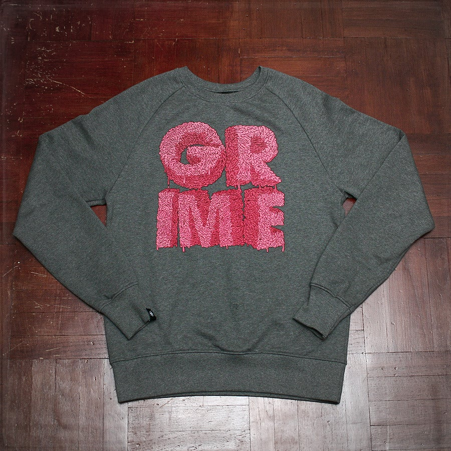 Image of Grime Scene Sweat - Grey / Pink