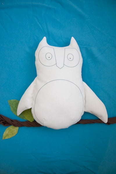 """Image of Owl """"Blank Canvas"""" Softie"""