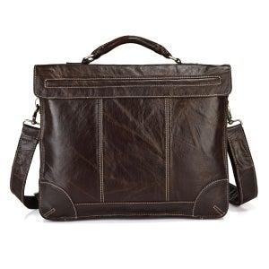 """Image of Vintage Handmade Antique Leather Briefcase / Messenger / 14"""" 15"""" Laptop 13"""" 15"""" MacBook Bag (n69)"""