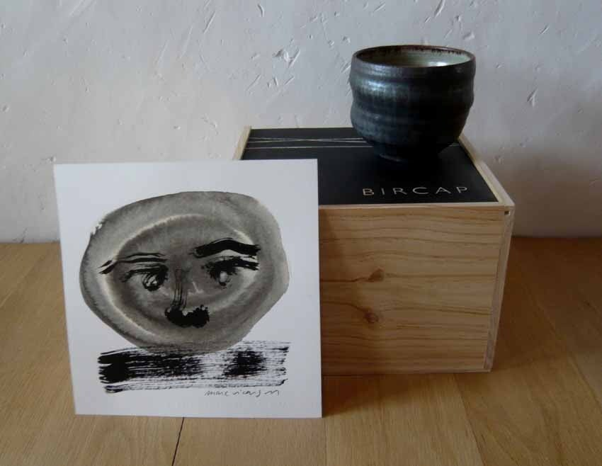 Image of ceramic bowl quatre & drawing