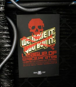 Image of Leauge of Space Pirates defaced Übercorp Poster