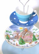 Image of 'Christmas Cheer' vintage cake stand
