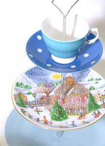 Image of 'Christmas Cheer' vintage cake stand