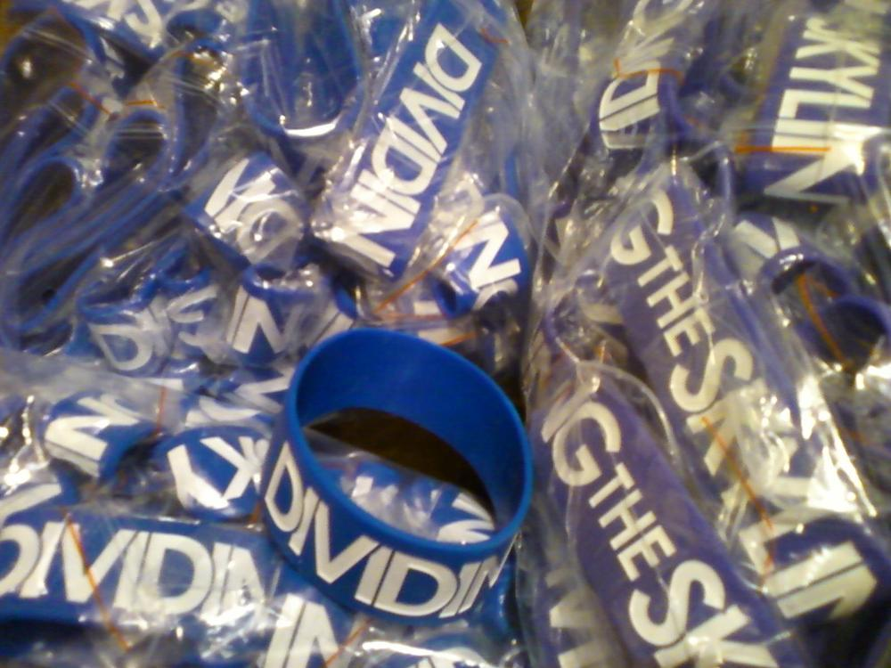 "Image of NEW ""Dividing The Skyline"" 1-Inch Wristband"