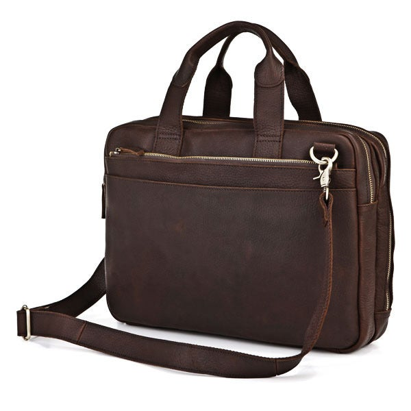 "Image of Vintage Handmade Antique Leather Briefcase / Messenger / 13"" 14"" Laptop 13"" 15"" MacBook Bag (n71)"
