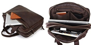 "Image of Vintage Handmade Antique Leather Briefcase / Messenger / 13"" 15"" MacBook 13"" 14"" Laptop Bag (n71)"