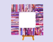 Image of Lavender, Pink Recycled Magazines Frame - Square Frame Made from Recycled Magazines