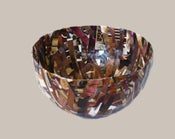 Image of Brown Recycled Magazine Bowl, Cup - Made from Recycled Magazines
