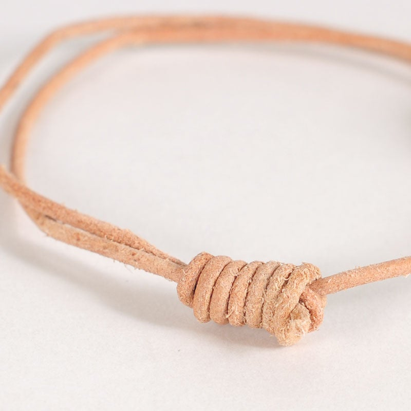 Image of Round Leather Bracelet - Natural