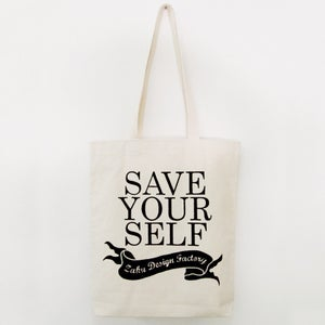 Image of Save Yourself Canvas Tote Bag