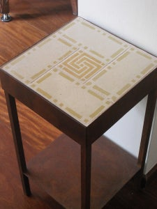 Image of Ochre and creme Version II night stand
