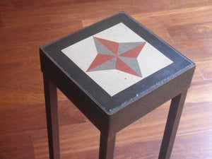 Image of Terracotta diamond plant stand