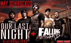 Image of OUR LAST NIGHT / FALLING SKYWARD TIX - MAY  30 @ ROCKOS, MANCHESTER, NEW HAMPSHIRE