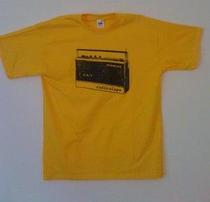 Image of RADIO SLAPS T-SHIRT  YELLOW WOMEN/MEN