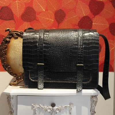 Image of Handmade Crocodile Leather Satchel / Messenger Bag / Camera Bag / Case - Unisex (m51)