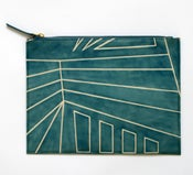 Image of DAZZLE ZIP CLUTCH blue