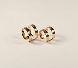 Image of Double Rings - Gold