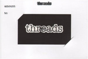 Image of Threads Gift Card - $25
