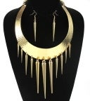 Image of Short Metal BIB Spike Bold Statement w Matching Earrings