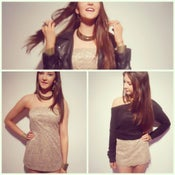 Image of Taupe Mocha lace sweetheart dress