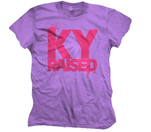 Image of Female Ky Raised in Purple & Pink