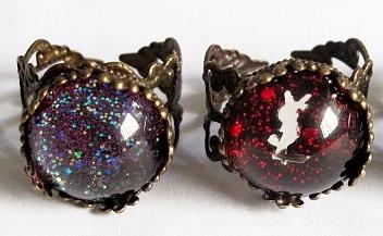 Image of Nail Polish Rings (Ornate frames)