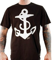 Image of Sailor Jerry Men's T-shirt - Anchor Tee