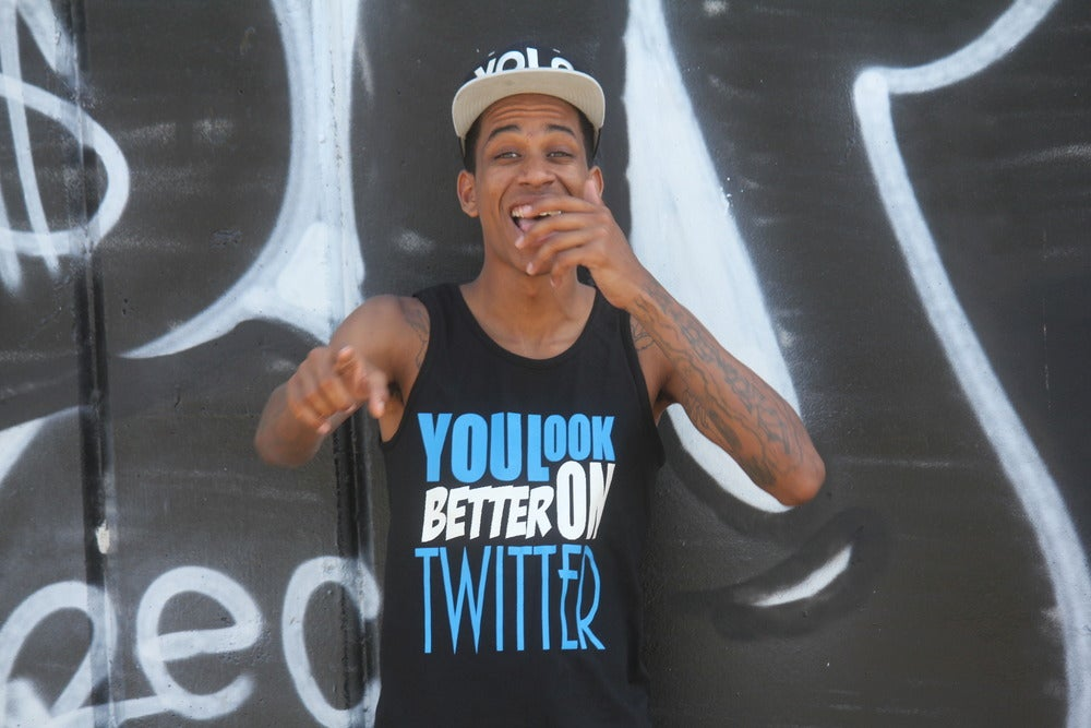 Image of You LOoK BETTER ON TWITTER TANK TOP