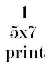 Image of 1 5x7 print