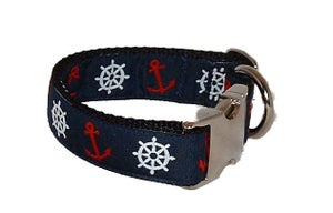 Image of Anchor Away!! Dog Collar in the category  on Uncommon Paws.