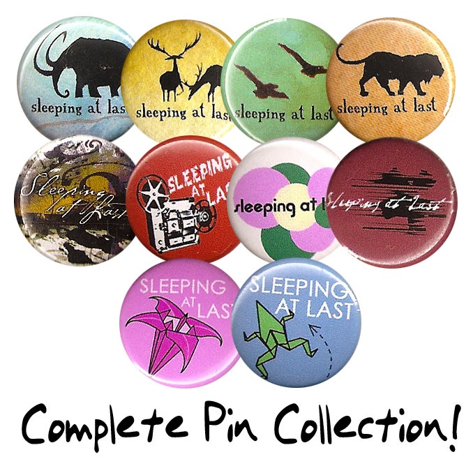 "Image of Complete 1"" Pin Collection (10 Pins)"