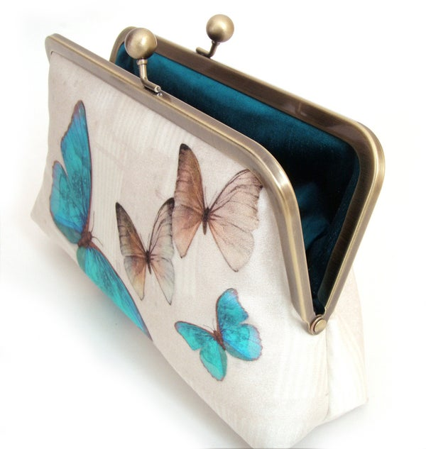 Butterflies clutch bag - Red Ruby Rose