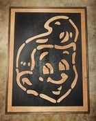 Image of SHT! Head Black on Wood Grain