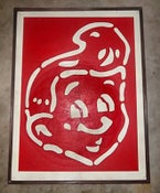 Image of SHT! Head Red on Wood