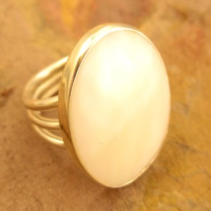 Image of Mother of Pearl Silver Ring