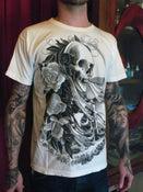 Image of Men's Skeleton and Veil T_White