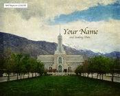 Image of Mt Timpanogos Utah LDS Mormon Temple Art 001 - Personalized LDS Temple Art