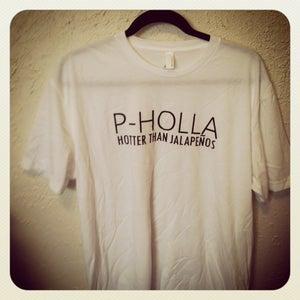 Image of White P-Holla Shirt