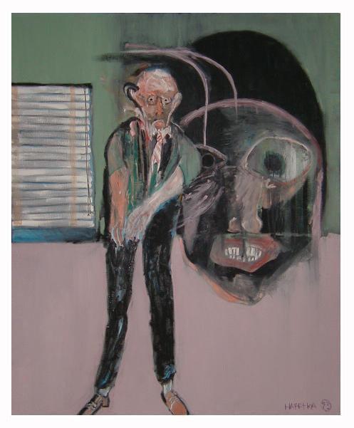 Image of Modern Expressionist Oil Painting by Michael Hafftka - Meltzer Meltzer & Meltzer