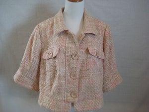 Image of Lane Bryant Pink Tweed Blazer 18