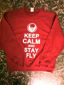 Image of Keep Calm and Stay Fly Crew-Neck