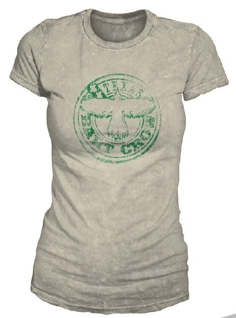 Image of BC Grey & Green Bart Crow Ladies Tee