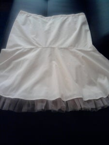 Image of Nicole Miller Cream Tulle Skirt 16