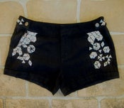 Image of Black shorts with metal studs
