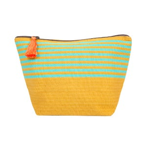Image of Medium Tassel Bag Mustard/Turquoise